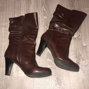 Brown Boot 3 in heel